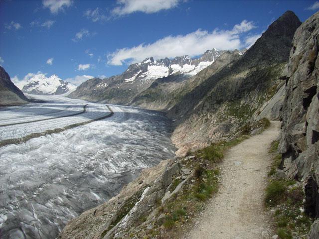 Bettmerhorn und Eggishorn (2926 m), Aletschgletscher