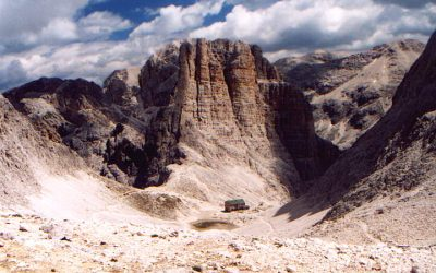 Über den Santner Pass zur Rosengartenhütte (2283m) – 30.06.2000